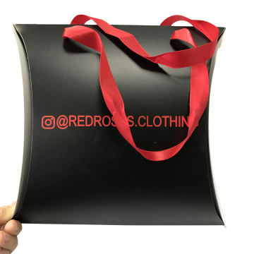 Wholesale Black Matte Custom Clothing Pillow Box