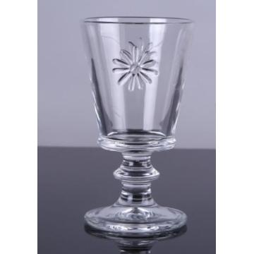 Hand Pressed Flower Design Drinking Glass Tumbler And Goblet