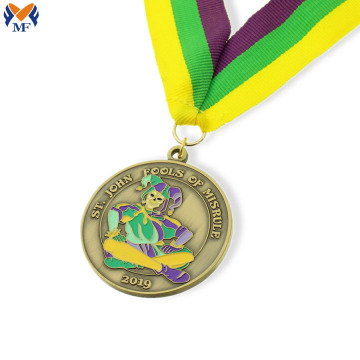 Personalized award medals with enamel color