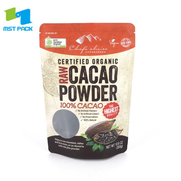 Cacao Powder Packaging Bag Food Zipper Pouch