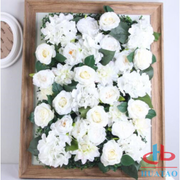 New design DIY plant artificial wall with flowers