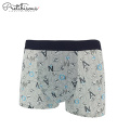 Letter pattern stretch boxers men wearing panties