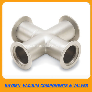 Stainless Steel KF40 Vacuum Crosses