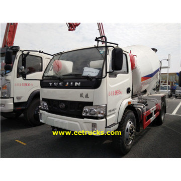 Yuejin 2500L Concrete Mixing Transport Trucks