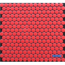 Rose red color porcelain mosaic tile