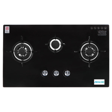 3-Burner Built-in Gas Hob Glass