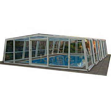 Swimming Trackless Waterproof Pool Enclosure Telescopic