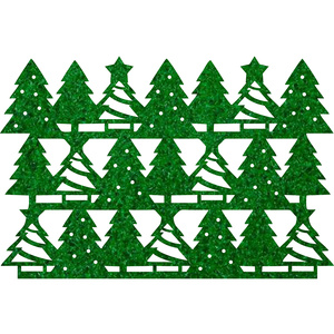 Christmas tree pattern Placemats for christmas party