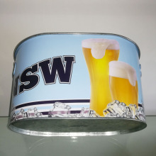 painted tin wine bucket on sale barrel