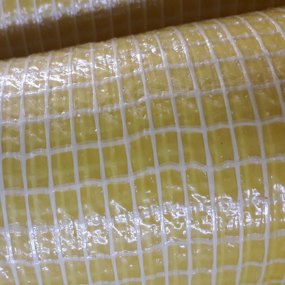 Yellow Leno Tarpaulin Micro-Perforated Foils