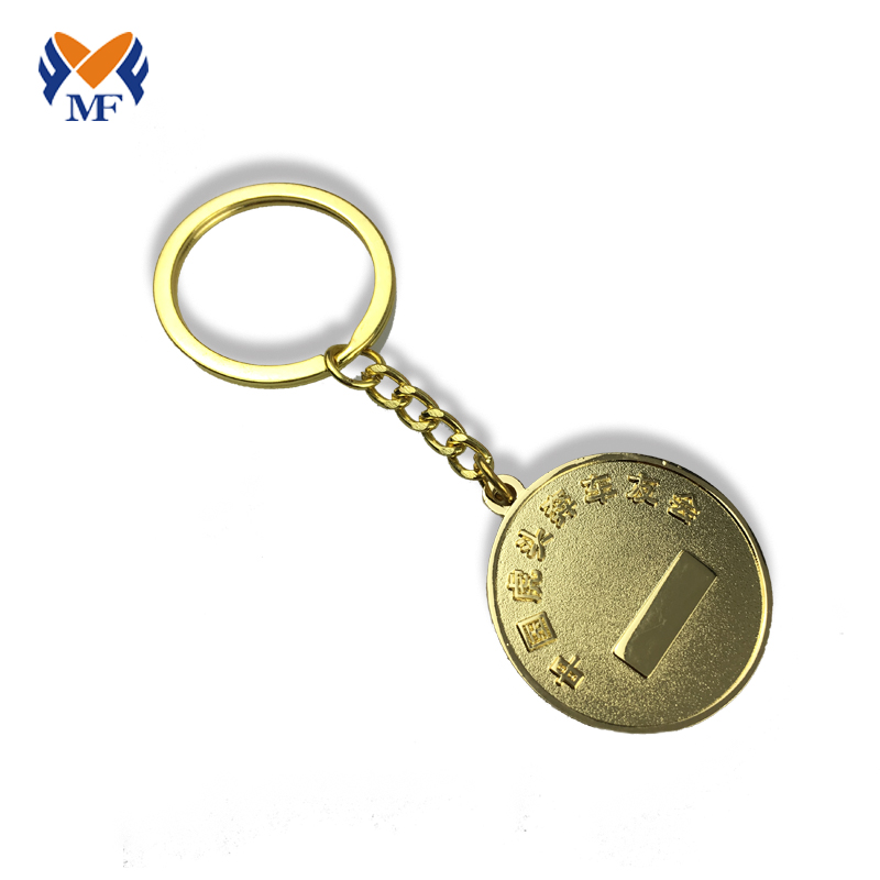 Metal Coin Keychain