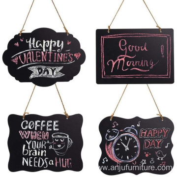 Chalkboard Sign Double-Sided Message Board with Hanging String