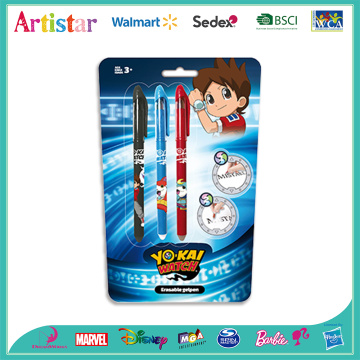 YOKAI 3 erasable pens with blister card (PF)