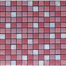 Bumpy Color Mixed Wall Paving Glass Mosaic