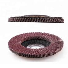 Aluminum oxide flap disc with fiberglass backing