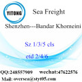 Shenzhen Port LCL Consolidation To Bandar Khomeini