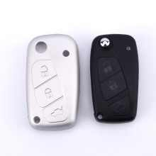 3 Buttons Silicone Car Key Cover For Fiat