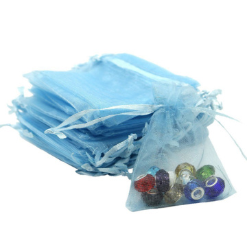 Custom Logo Jewelry Drawstring Pouch Organza Gift Bags