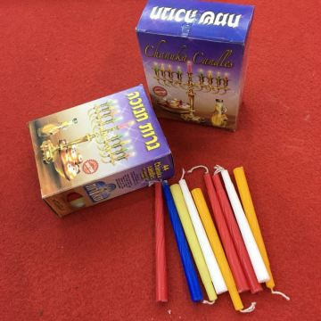 Wholesale Bulk Multicolor Hanukkah Candles