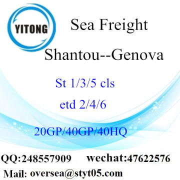 Shantou Port Sea Freight Shipping To Genova