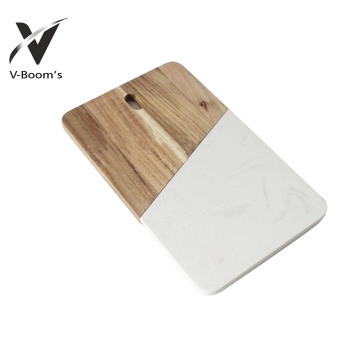 New Arrival for Marble And Wood Cutting Board Rectangle Marble Cheese Board export to French Southern Territories Factories