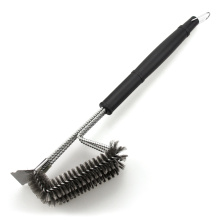 Good Quality for BBQ Grill Brush Stainless Steel BBQ Cleaning Brush With Scraper export to Armenia Manufacturer