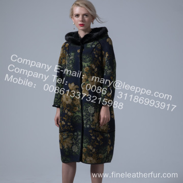 Reversible Australia Merino Shearling Long Winter Coat