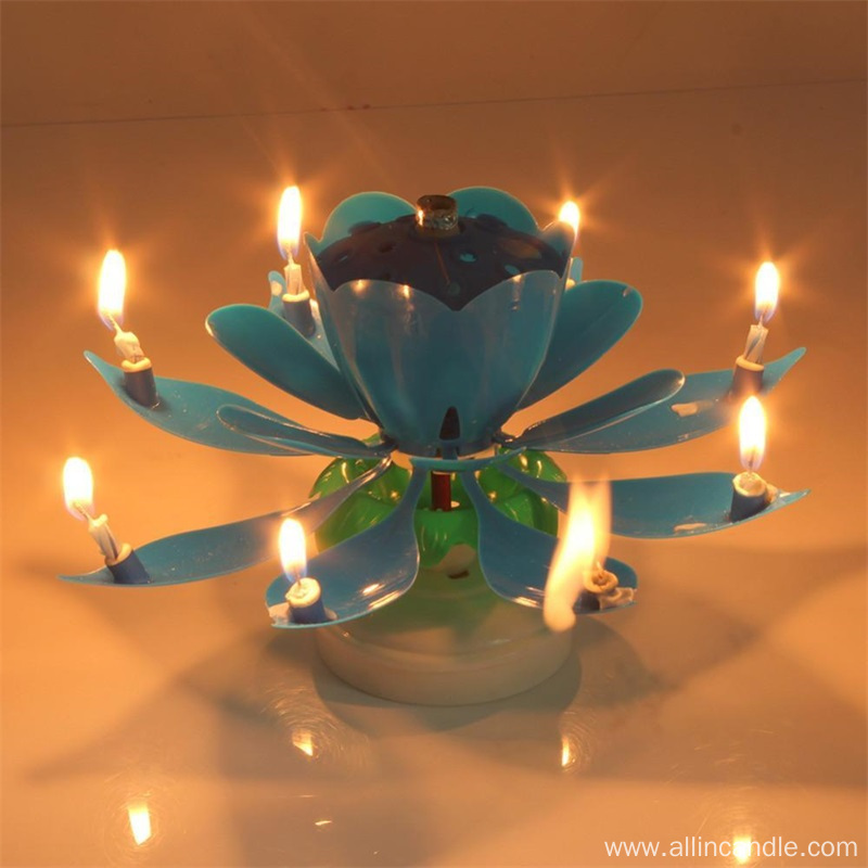 Cheap Music Rotating Birthday Candle