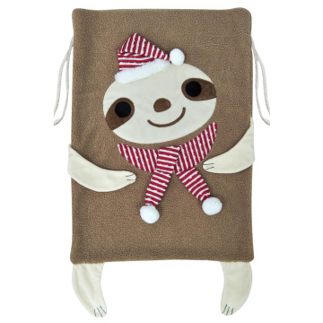 Large christmas sack with cute animals shaped