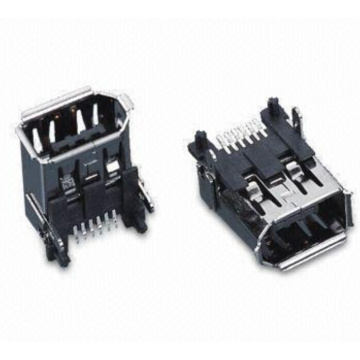 1394 6P Receptacle SMT Connector