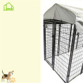 6x4x4' Square tube wire welded dog crate kennel