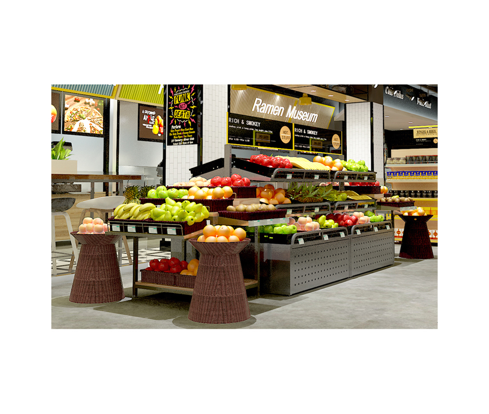 Fruit Display Shelving Units