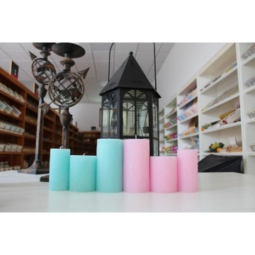 wedding decoration romantic oil unscented pillar candle