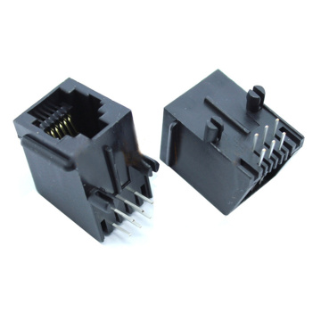 Modular Jack 6P6C full Plastic with panel Flat pin