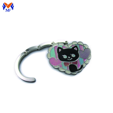 Metal magnetic custom heart shaped purse hanger