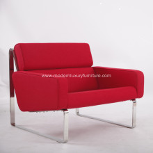Red Cashmere Fabric Lounge Sofa