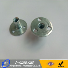 Good Quality for China T-Nuts For Cliff-Climbing,Cliff-Climbing Tee Nut,Indoor Cliff Climbing Stamped Nuts Manufacturer and Supplier 3/8 3 Holes Round Base T Nuts supply to Congo Manufacturer