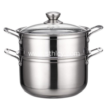 Composite Bottom Thickened Two-layer Steamer Pot