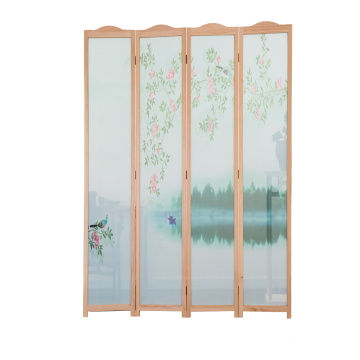 Carved Wooden Screen / Folding Room Dividers