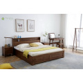 Solid Rubber Wood Bed Headboard with Storage