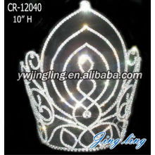 10 Inch Rhinestones Circle Pageant Crown