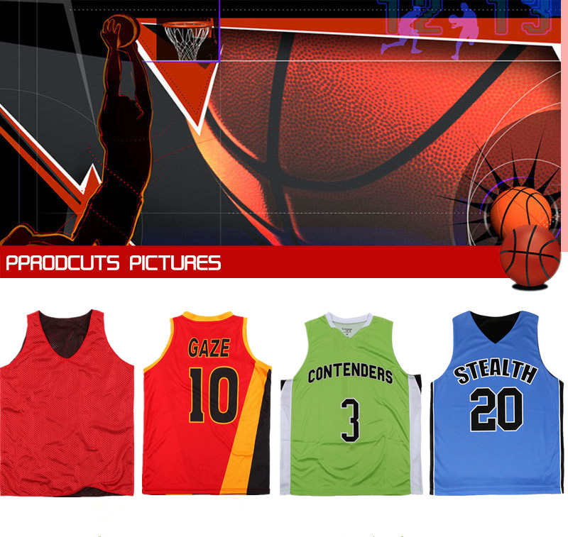 printed basketball uniforms