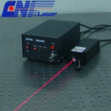 Solid red laser with easy operating for measurement