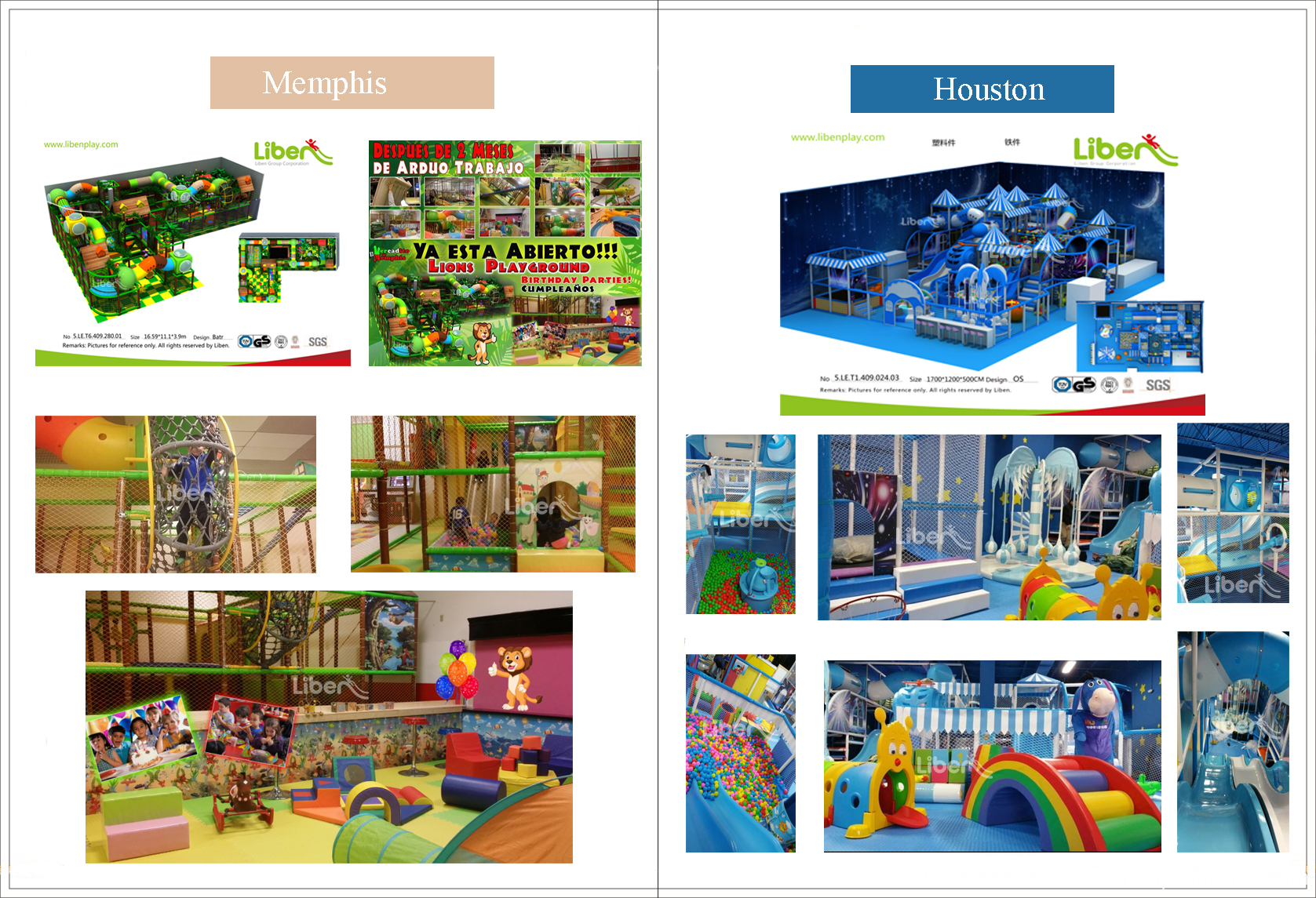 America indoor playground projects