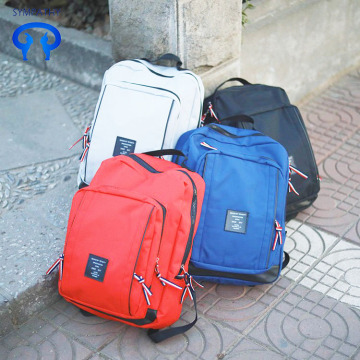 Korean version simple large capacity canvas travel backpack