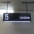 Customized Haning LED Cashier Sign Board
