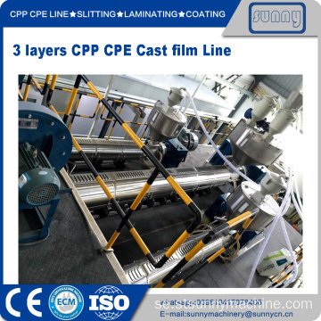 Professionell CPP gjutfilm extruderingslinje