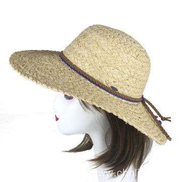 Summer portable straw braid sun hat