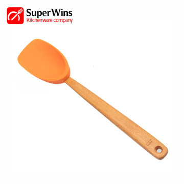 Heat Resistant Flexible Scraping Silicone Spoon Spatula