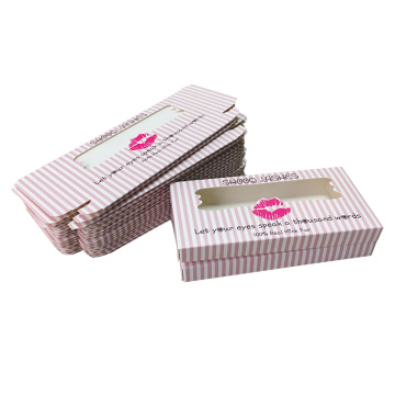 Wholesales Pink with White Eyelashes Paper Box